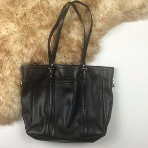 Coach Vintage Leather Gallery Tote Shoulder Bag